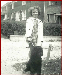 Photo of Cherie and a Poodle